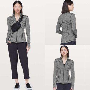 Lululemon Define Jacket Luon Variegated Knit Black